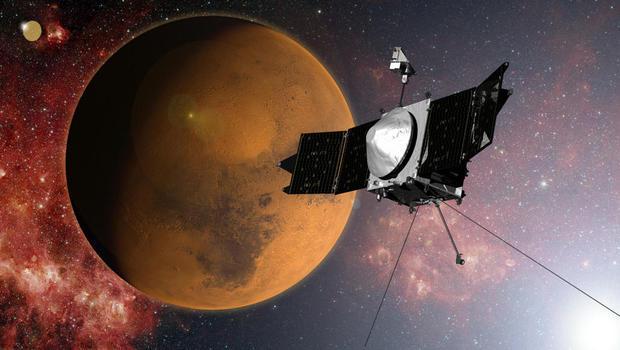 MAVEN приблизился к орбите Марса