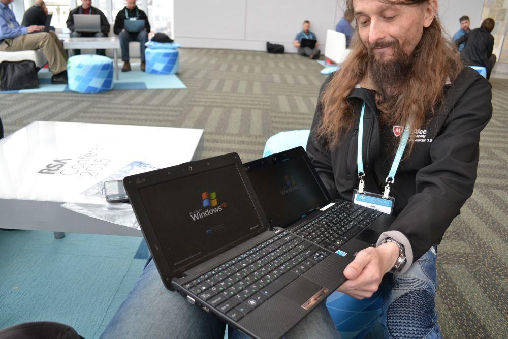 Крис Касперски на RSA Conference 2015. Источник: хакер.ру, гиктаймс.ру