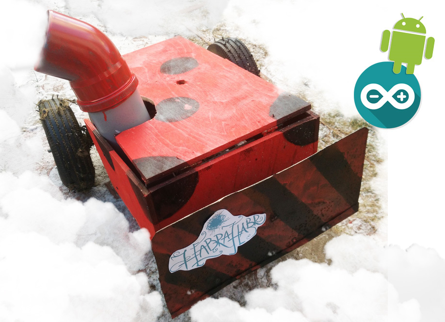 As I made the snow blower 3.0 with management on Bluetooth with smartphone Android