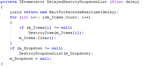 Custom korutina in Unity 5.3