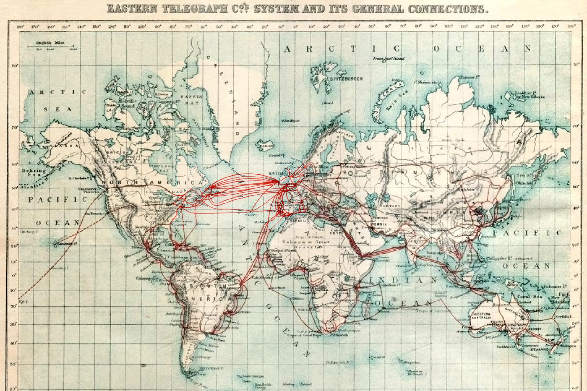 схема прокладки кабелей на карте