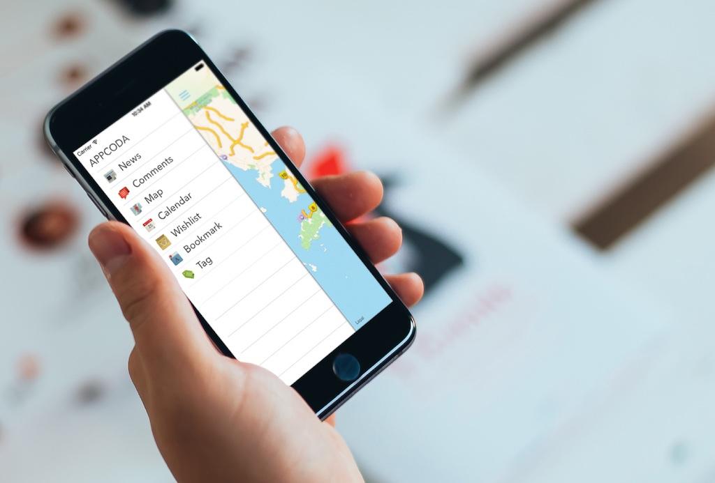 Добавляем панель бокового меню в свое iOS-приложение