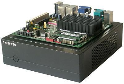 Вид материнской платы Intel D2500CC исистемного блока Chieftec IX-01B ссеверо-востока