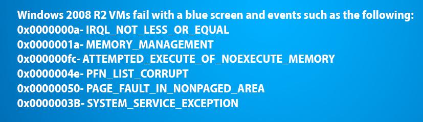 «Синий экран» при попытке запуска одной из виртуальных машин
