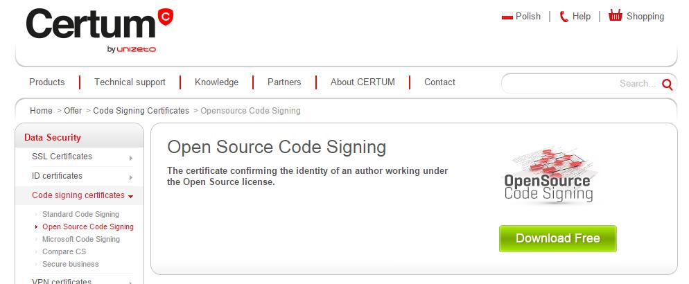 Изменения процедуры выдачи сертификата для подписи кода у Certum