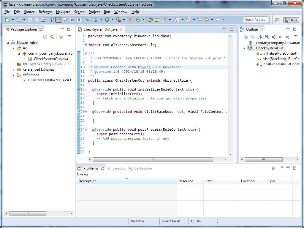 Написание кастомных правил для анализатора кода Kiuwan