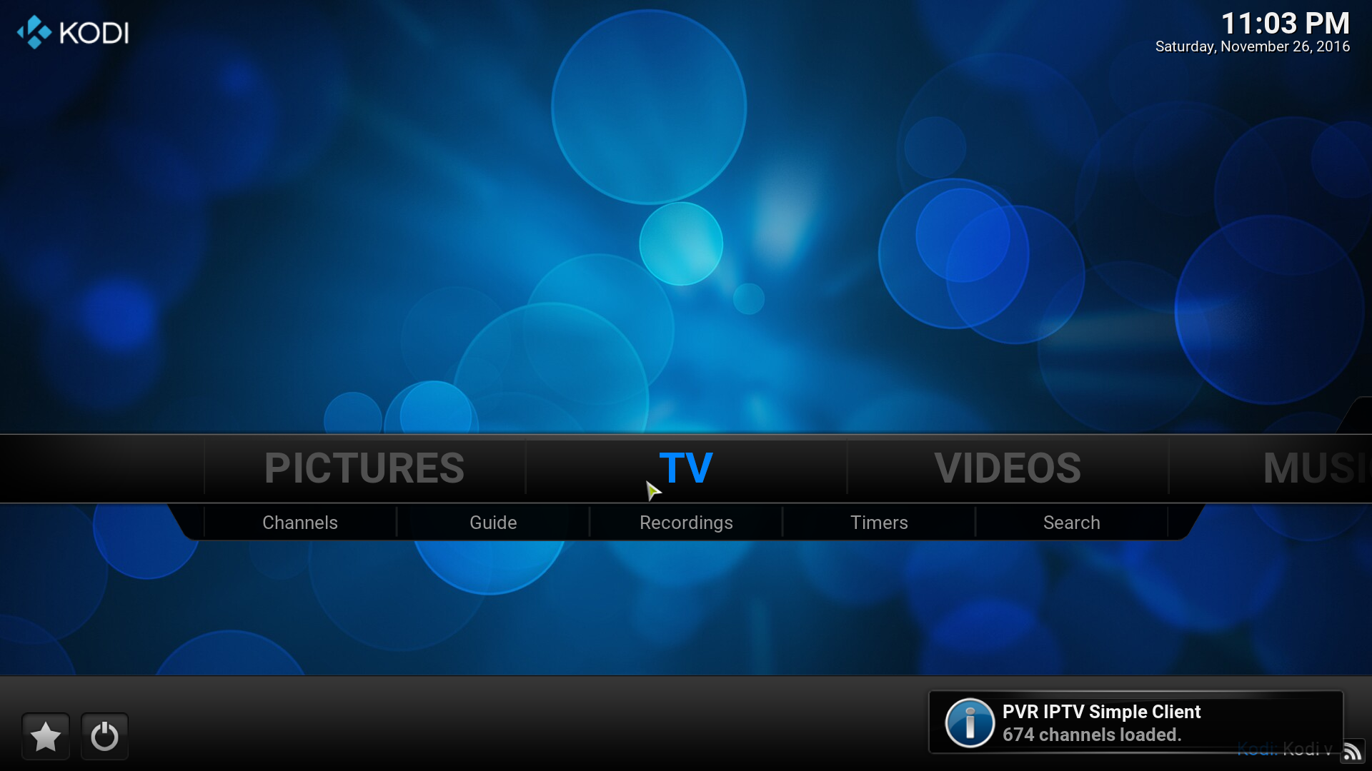 kodi settings live tv playlist screenshot