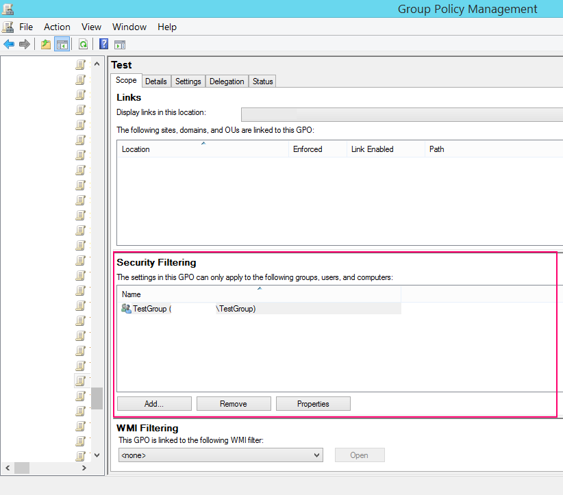 Список фільтрів безпеки(security filtering)