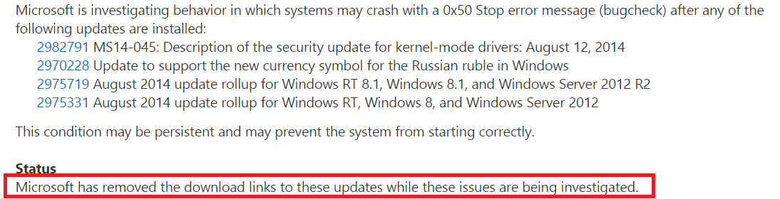 Microsoft advises to refrain from MS14-045 updating installation