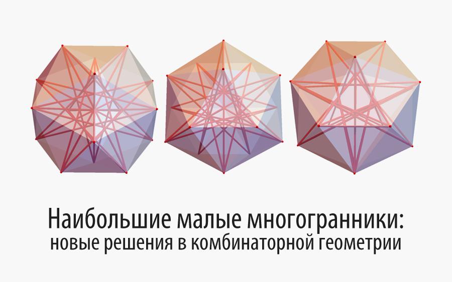 Наибольшие малые многогранники: новые решения в комбинаторной геометрии