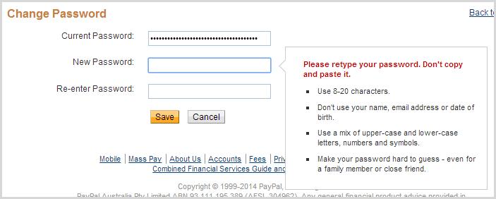 Эффект кобры. Кейлоггер на eBay и запрет на копипаст пароля