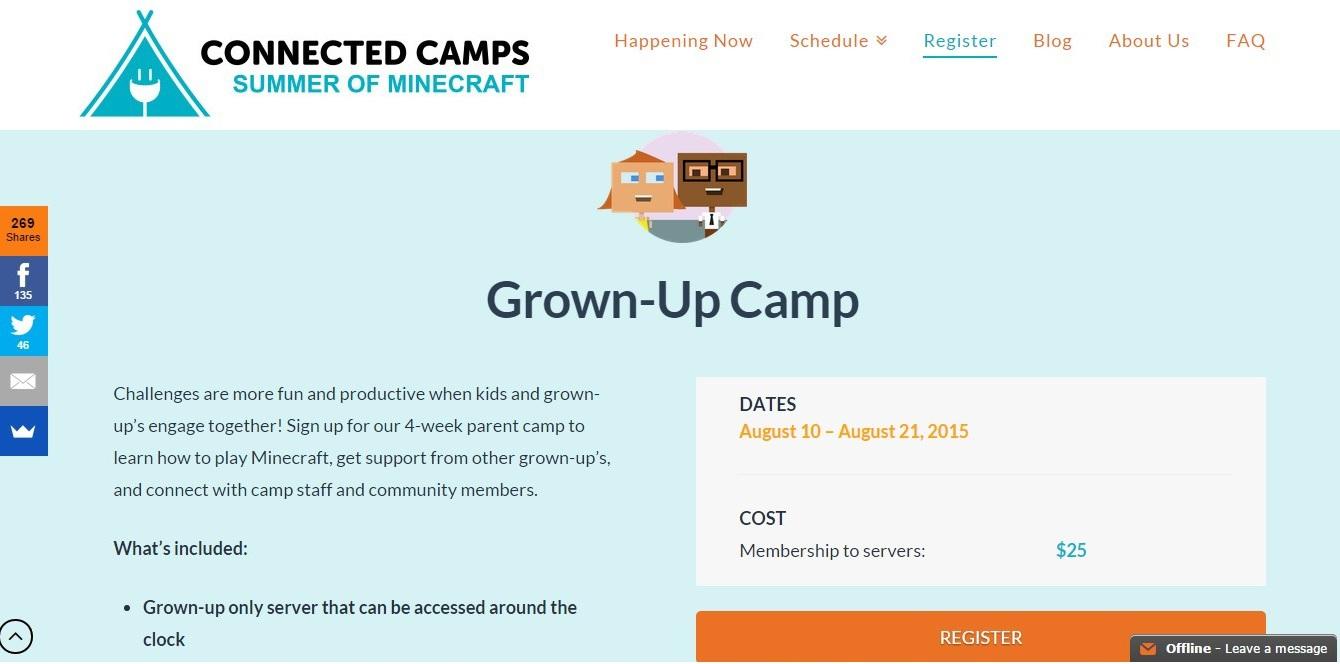 Направление лагеря для взрослых