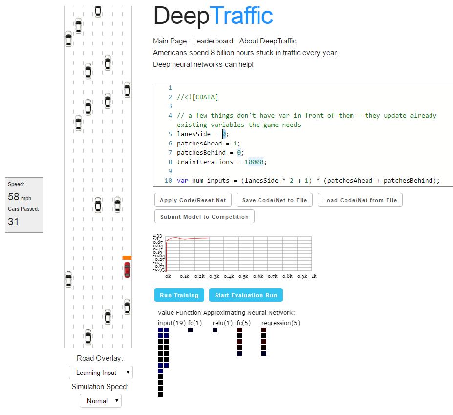 Домашнее задание от МТИ: пишем нейросеть для манёвров в дорожном трафике