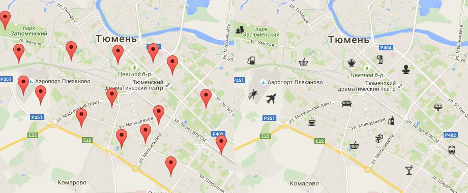 [Из песочницы] MapFont, Использование шрифтов со значками в картографических сервисах