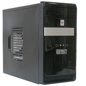 Вид системного блока Эльбрус 401-PC спереди исбоку