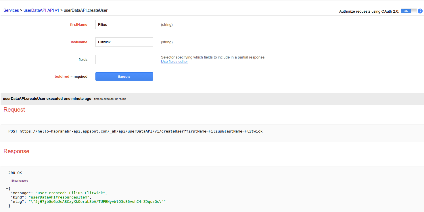 Work with the database in Google App Engine/Google Cloud Endpoints on Java: Objectify framework