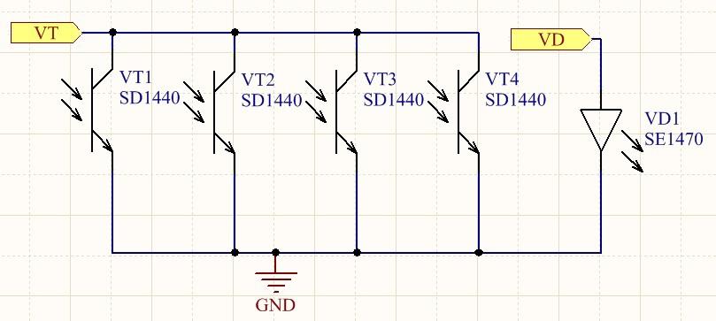 Эмиттеры фототранзисторов