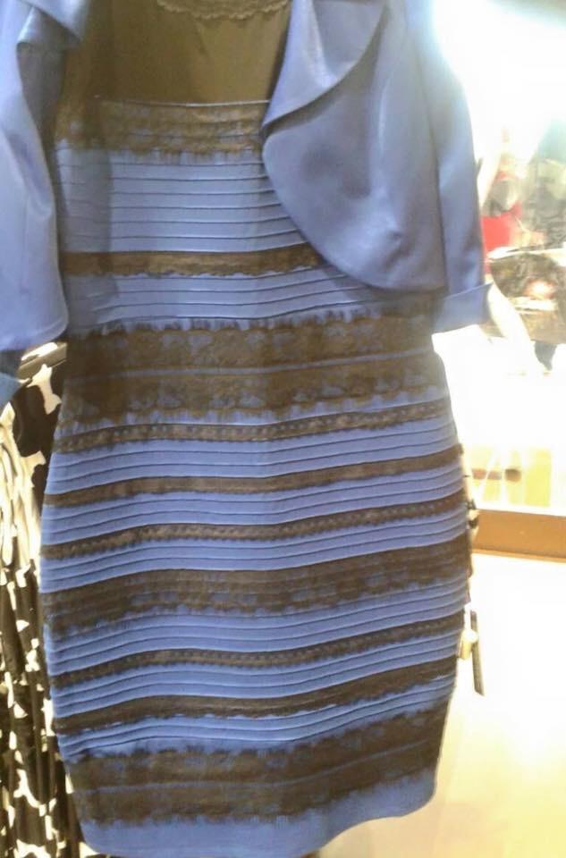 Черно-синее платье прикол
