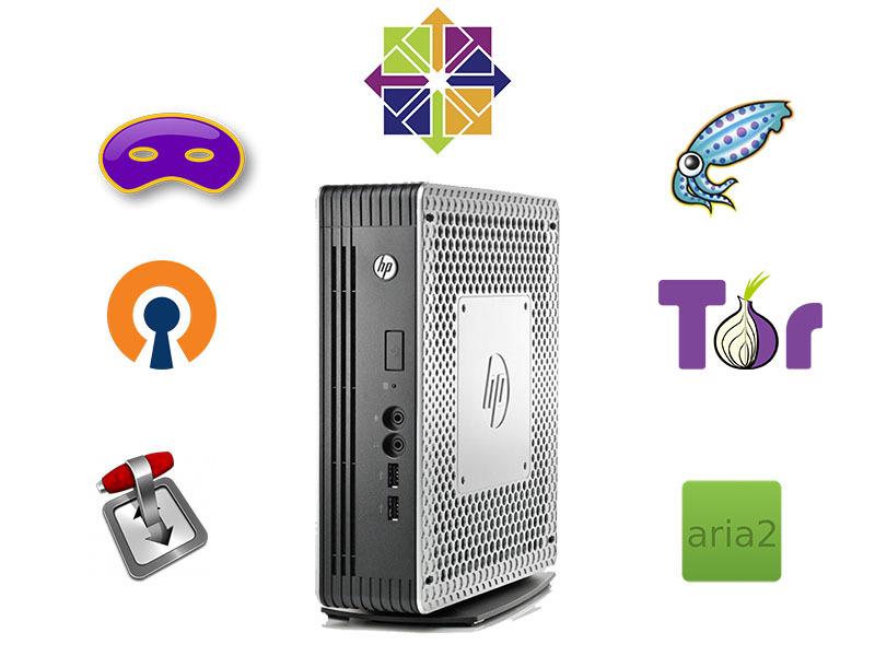 Тонкий клиент HP в качестве домашнего роутера и файл-сервера