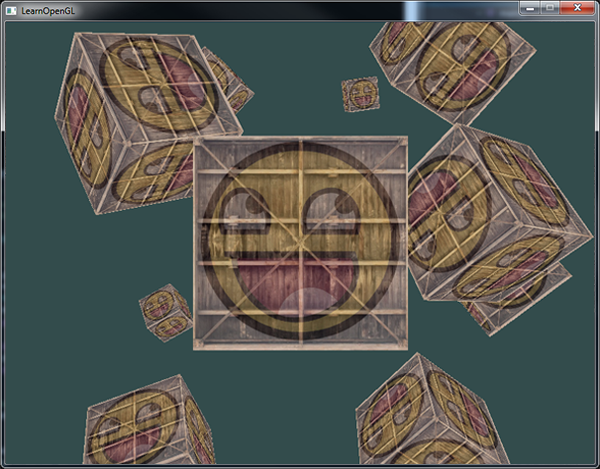 Множество текстурированных кубов