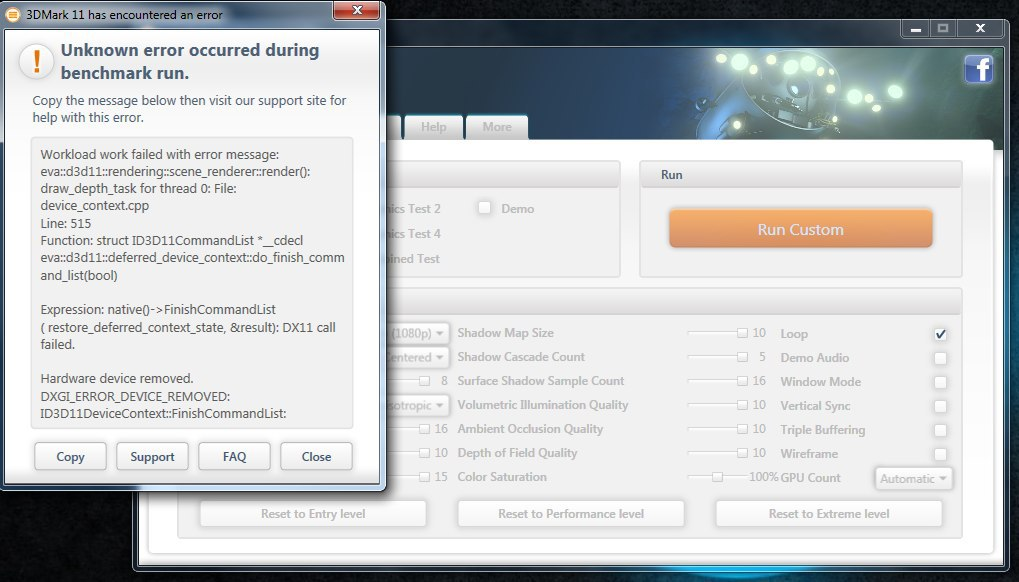 directx function get device removed reason failed