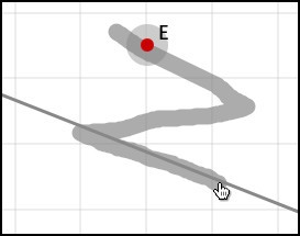 Gesture Parallel line through a given point