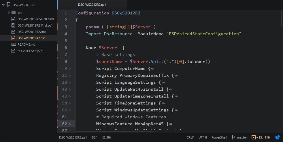 Практическое использование Desired State Configuration для Windows Server 2012 R2