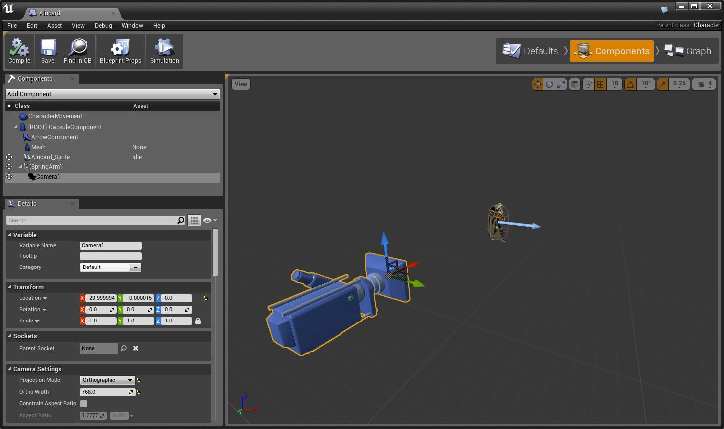 Создаем 2D платформер при помощи Unreal Engine 4  Часть 1 — Игровой