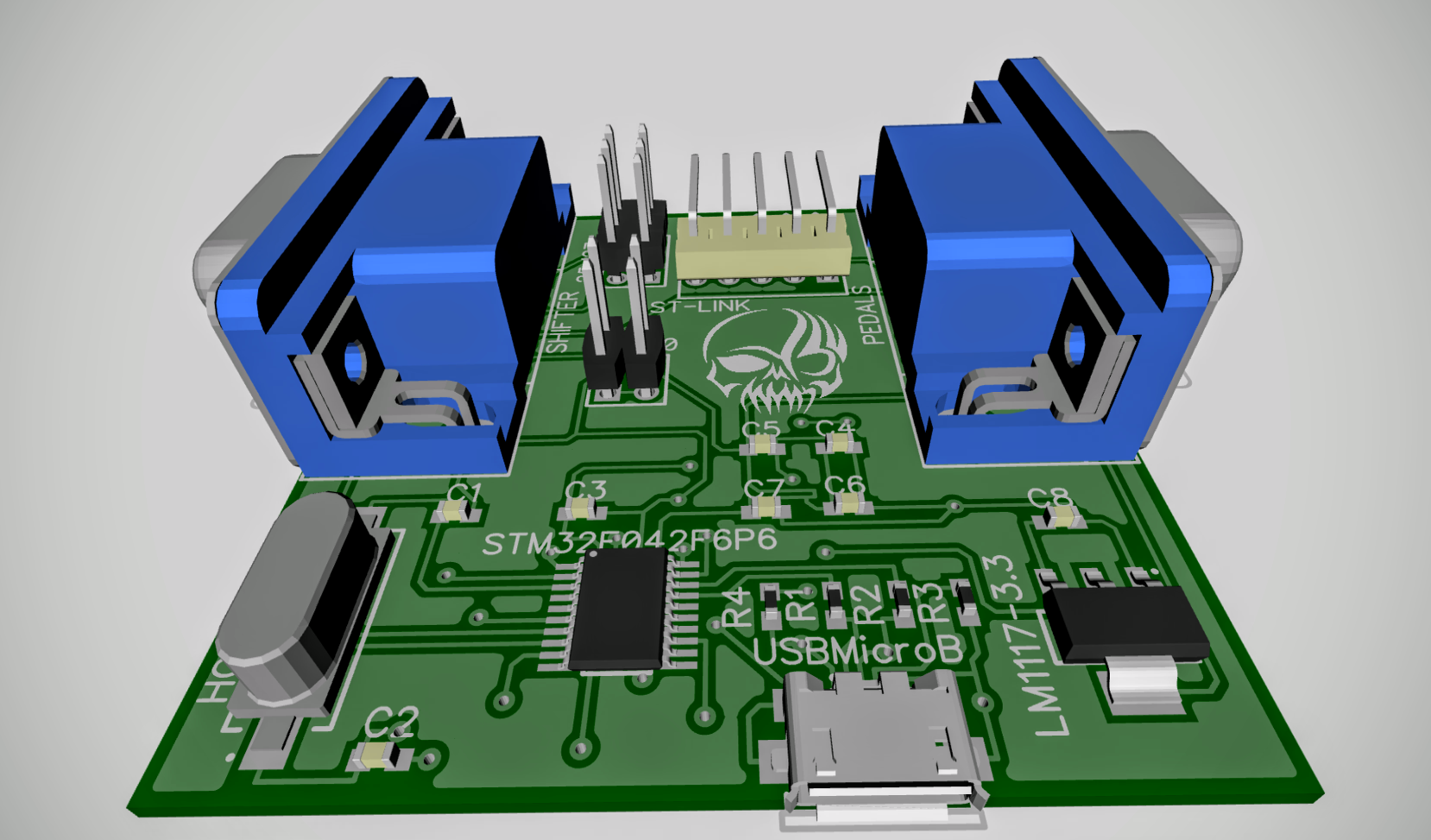 Адаптер педалей и/или шифтера Logitech G25/G27 на STM32