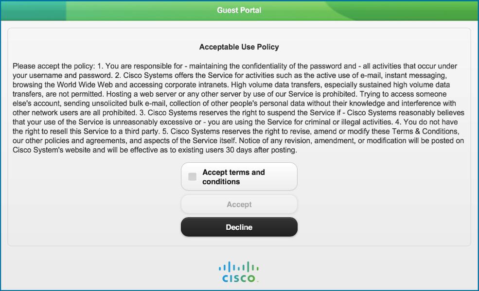 Политика допустимого использования при гостевом доступе