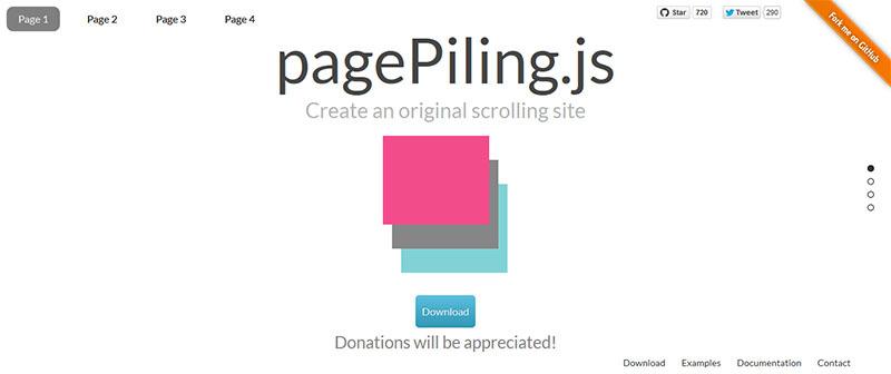 Pagepiling.js инструкция