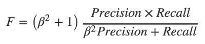 Формула для расчета F-меры