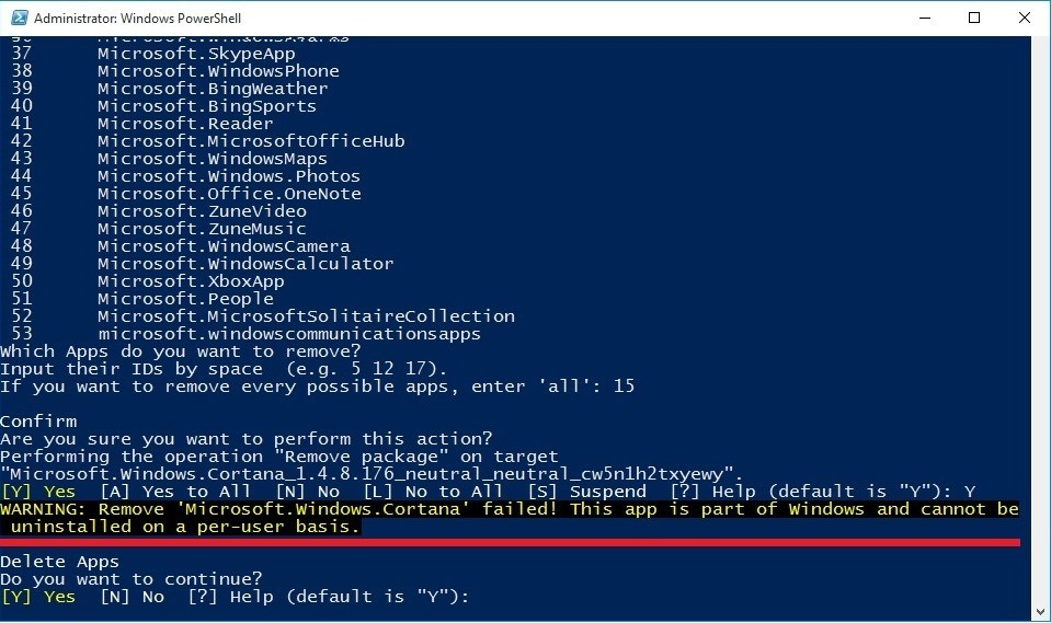 PowerShell administrator warning