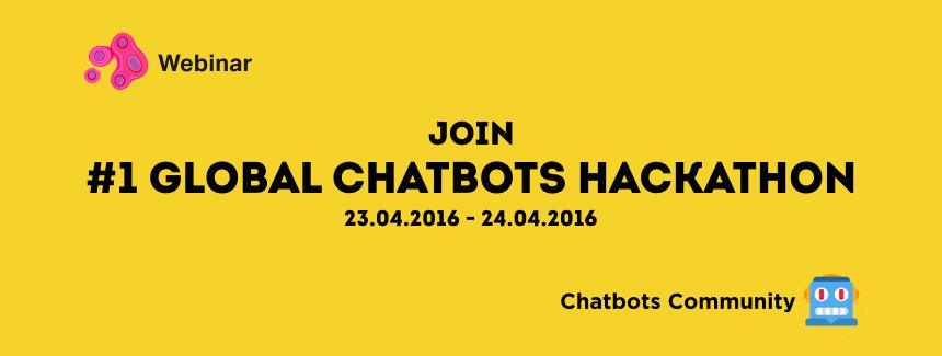 23-24 апреля с 12:00 до 12:00 приглашаем на #1 Global Chatbots Hackathon с Webinar.ru