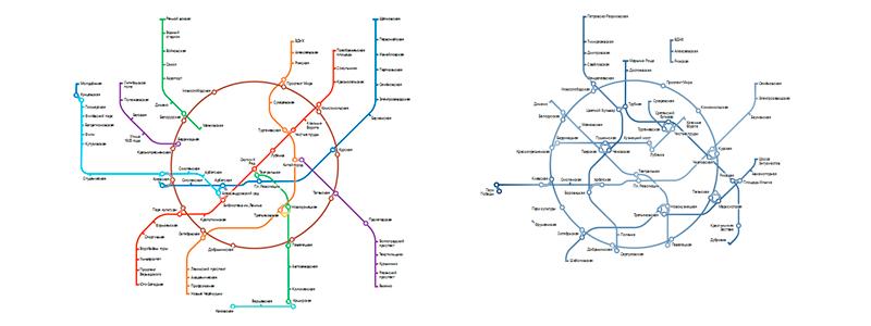 показать схему метро,