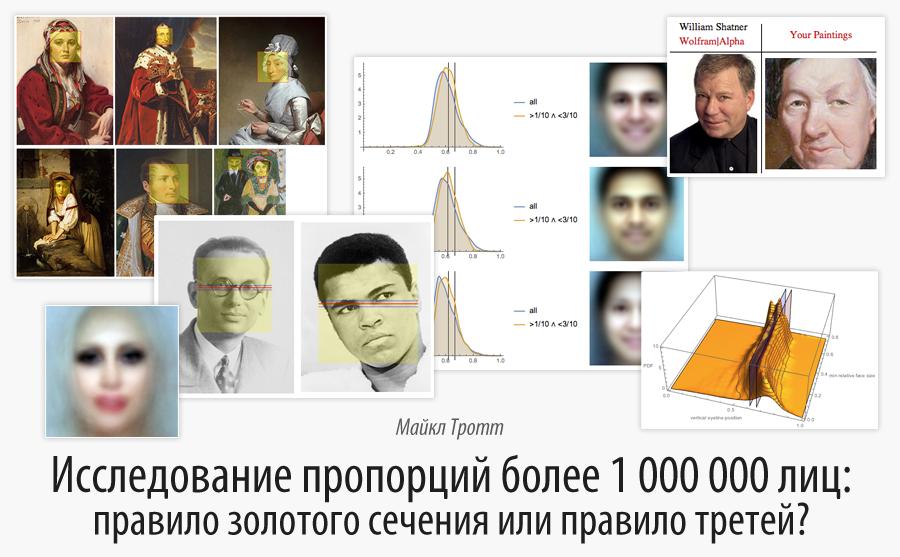 Исследование пропорций более 1 000 000 лиц: правило золотого сечения или правило третей?