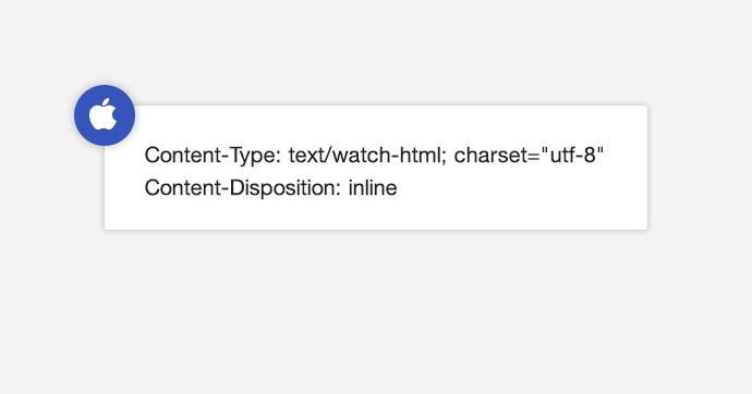 Как создать email-письмо, которое увидит только Apple Watch