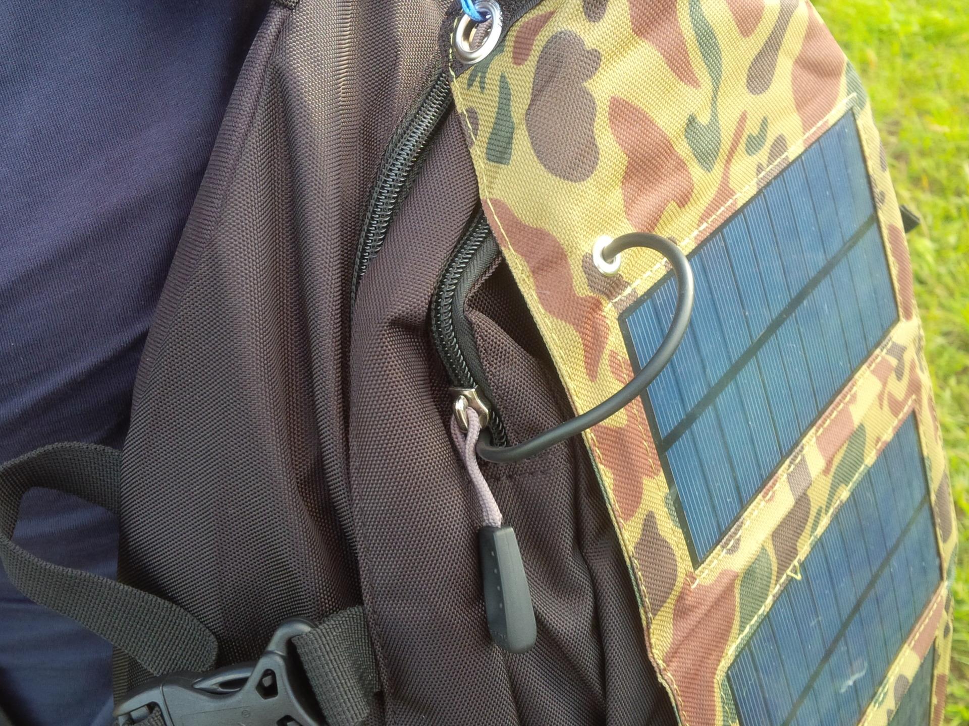 Солнечная батарея крепится на рюкзаки херлиц рюкзаки купить сочи