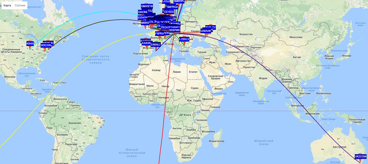 Немного о WSPR, или как далеко можно передать сигнал мощностью 1Вт?