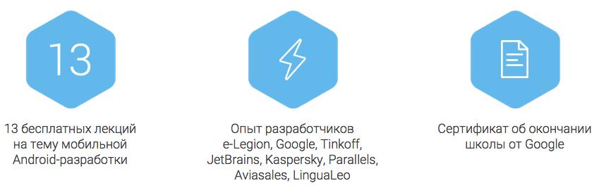 Онлайн школа Android-разработчиков e-Legion & Google