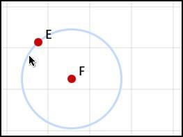 Circle through point
