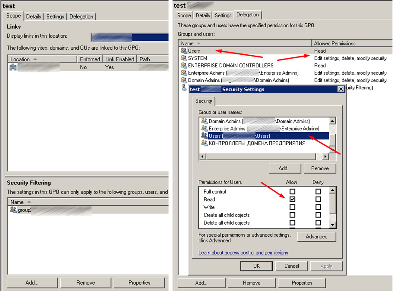 How to apply a Group Policy Object to individual users or