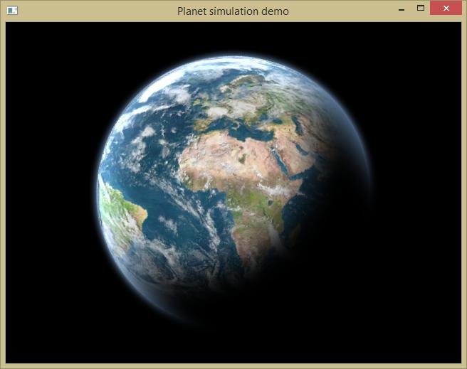 Объемные планеты в 2D через шейдер