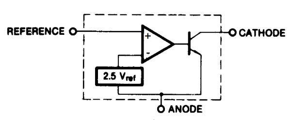 Блок-схема TL431, взятая из