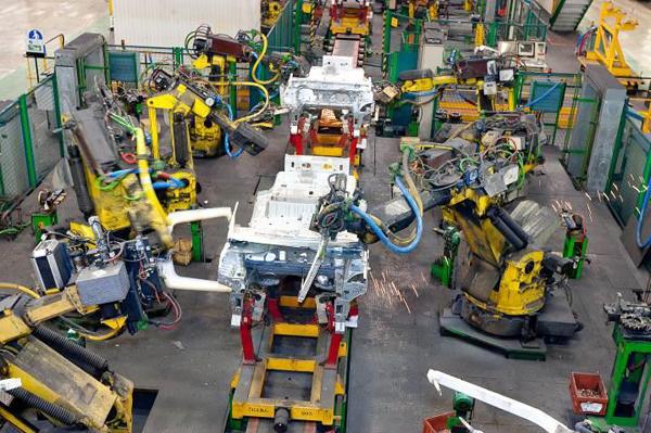 Роботизированный конвейер сборки автомобилей фольксваген транспортер т1 года выпуска
