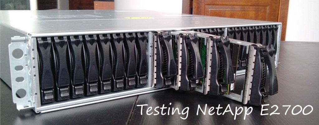Testing NetApp E2700