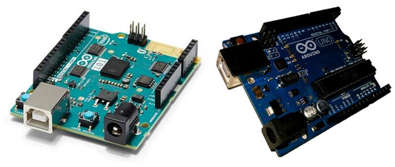 Платы Genuino 101 и Arduino UNO