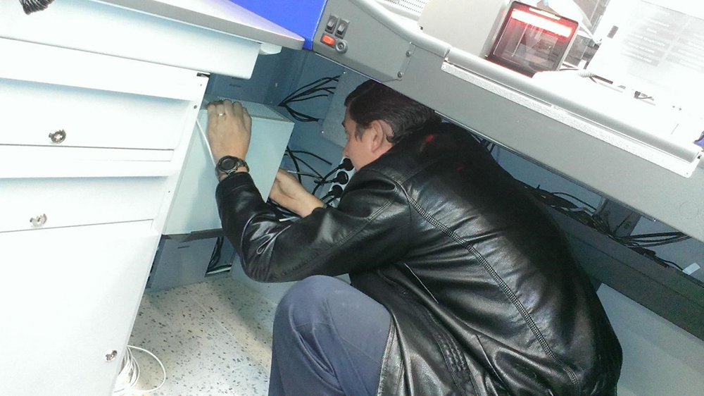 installation of commercial equipment