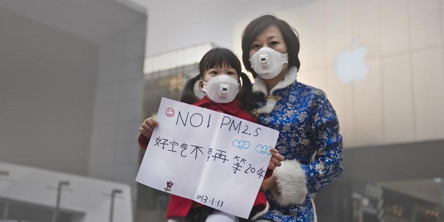Плакат о борьбе с микрочастицами от сгорания угля в КНР / ©habr.com
