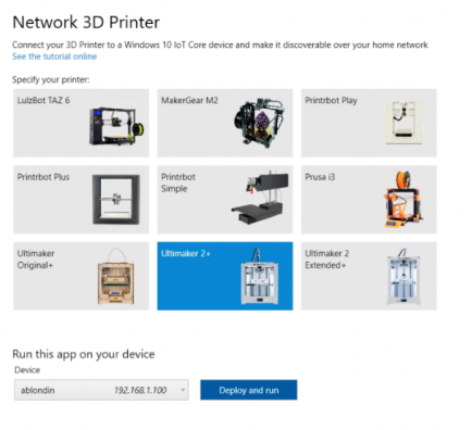Microsoft Printrbot Metal Plus Printer Treiber